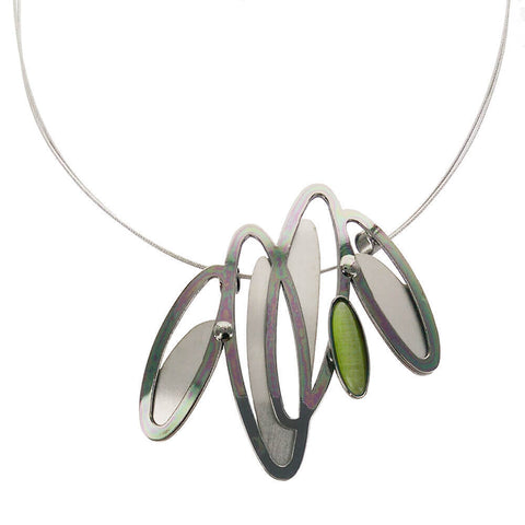 Christophe Poly Dancing Ovals Green Necklace