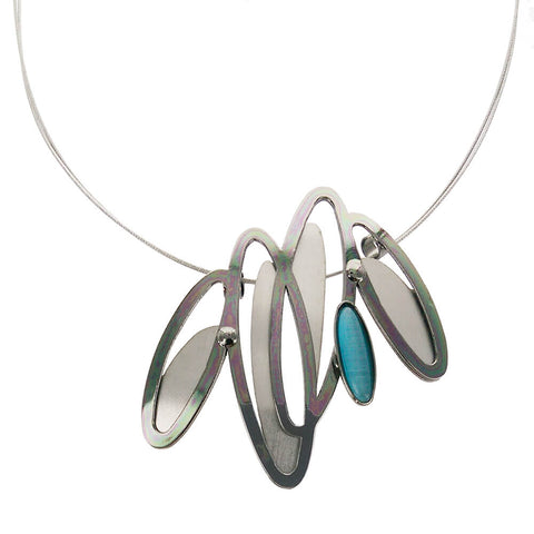Christophe Poly Dancing Ovals Necklace