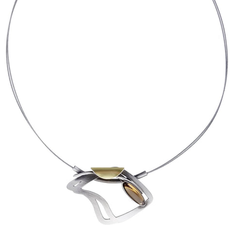 Christophe Poly Dynamic Curves Tube Necklace