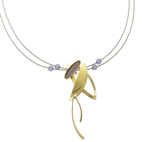 Christophe Poly Dynamic Gold Energy Pendant Necklace