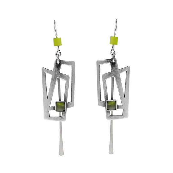 Christophe Poly Dynamic Rectangles Drop Earrings