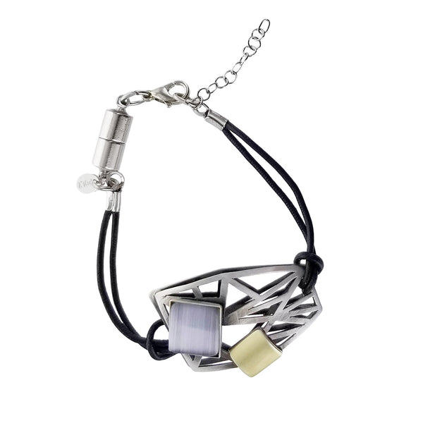 Christophe Poly Energetic Angles Leather Bracelet