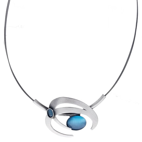 Christophe Poly Energetic Circles Blue Necklace