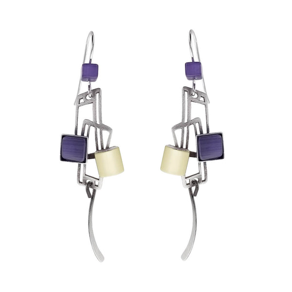 Christophe Poly Energy Rectangles Drop Earrings