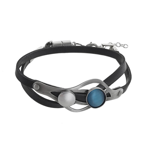 Christophe Poly Gentle Waves Double Wrap Bracelet