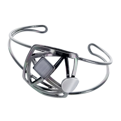 Christophe Poly Geometric Square Cuff