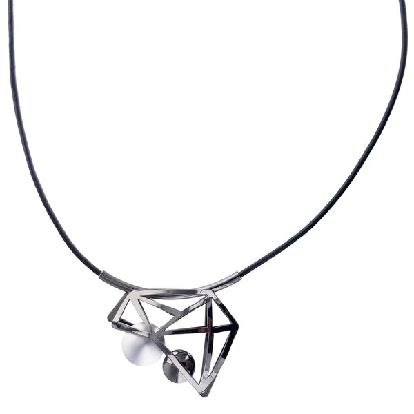 Christophe Poly Geometric Triangles Circles Necklace