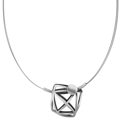 Christophe Poly Geometric Rounded Square Necklace