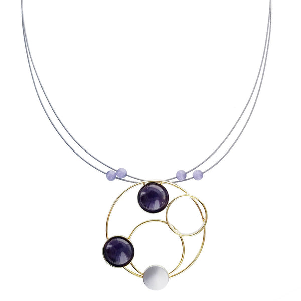 Christophe Poly Gold Circles Wire Necklace