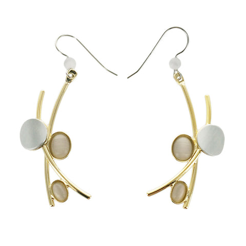 Christophe Poly Gold Silver Pearlescent Earrings