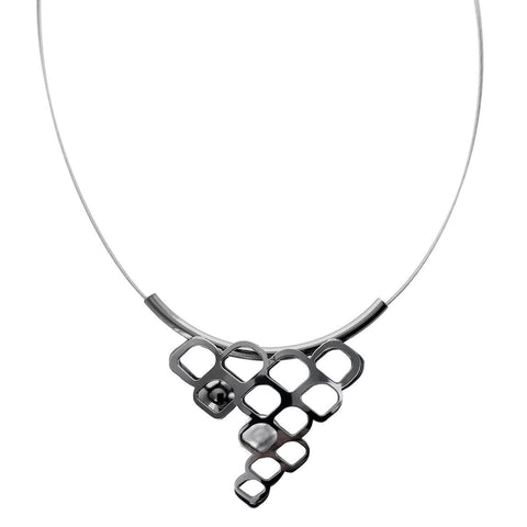 Christophe Poly Honycomb Pendant Tube Necklace