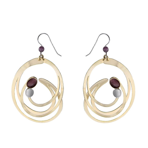 Christophe Poly Large Gold Swirl Earrings
