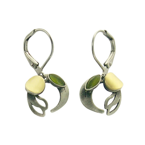 Christophe Poly Merging Crescent Earrings