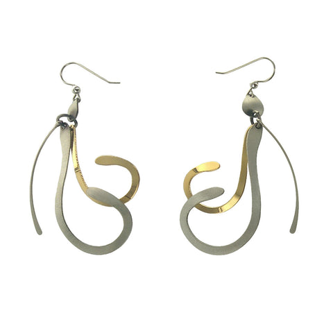 Christophe Poly Mixed Metal Curly Earrings