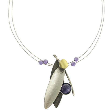 Christophe Poly Mixed Metal Two Petal Necklace