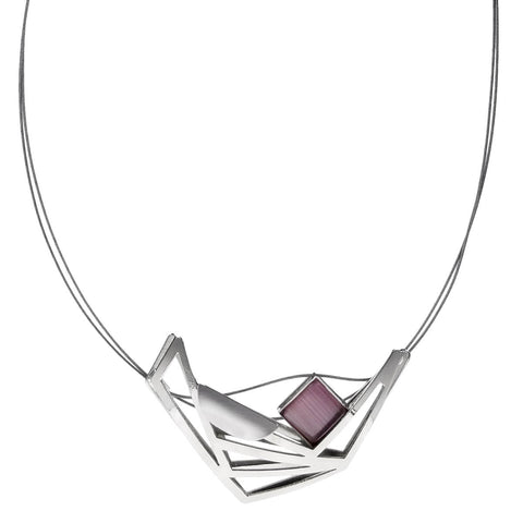 Christophe Poly Modern Triangles Pendant Necklace