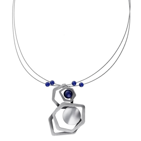 Christophe Poly Organic Hexagons Circle Necklace