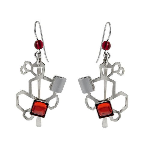 Christophe Poly Organic Pentagons Earrings