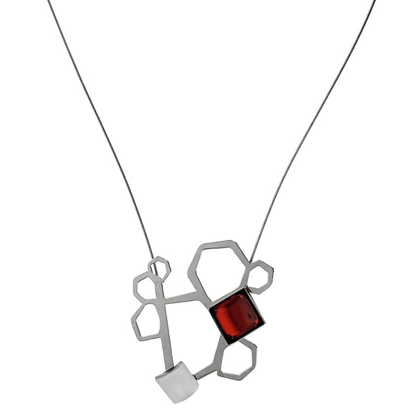 Christophe Poly Organic Pentagons Necklace