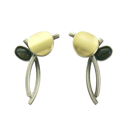 Christophe Poly Circle Oval Stems Post Earrings