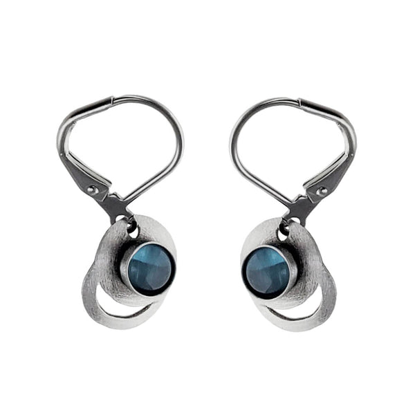 Christophe Poly Overlapping Circles Blue Earrings