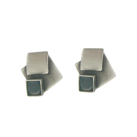 Christophe Poly Overlapping Squares Post Earrings