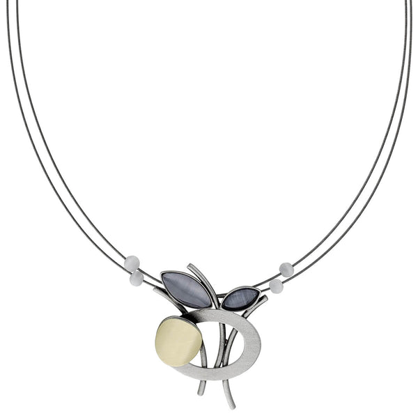 Christophe Poly Pearlescent Petal Bouquet Necklace