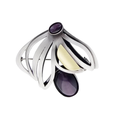 Christophe Poly Purple Blossom Pin