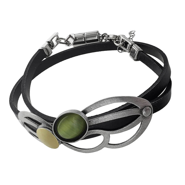 Christophe Poly Rounded Matrix Double Wrap Bracelet
