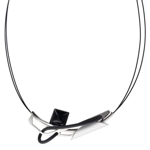 Christophe Poly Silver Black Positive Energy Necklace