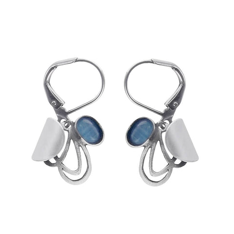 Christophe Poly Silver Blue Baby Wings Earrings