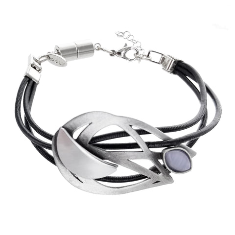 Christophe Poly Triple Leather Flame Bracelet