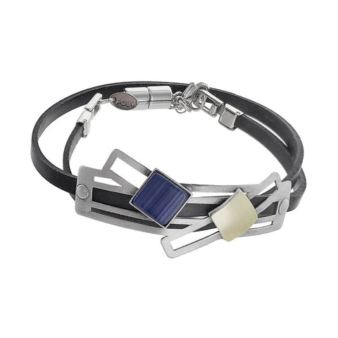 Christophe Poly Silver Path Double Wrap Bracelet