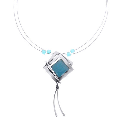 Christophe Poly Squares & Stem Drops Necklace