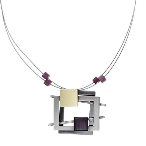 Christophe Poly Squares Two Stems Necklace