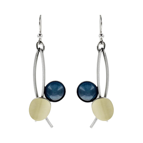 Christophe Poly Stems Circles Blue Earrings