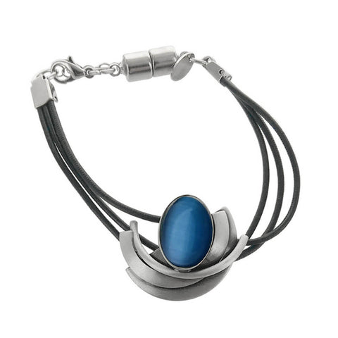 Christophe Poly Triple Leather Curves And Oval Bracelet