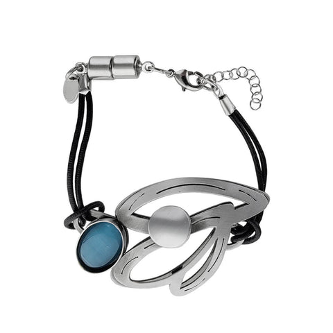 Christophe Poly Triple Petal Leather Bracelet