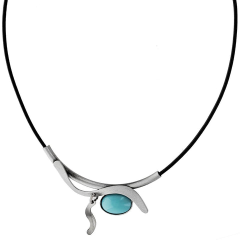 Christophe Poly Turquoise Wave Tube Necklace