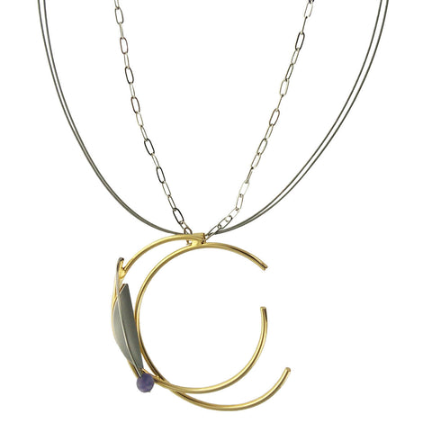 Christophe Poly Wire Chain Double Hoop Necklace