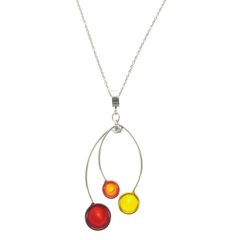 Christopher Royal Orange Red Yellow Circle Necklace
