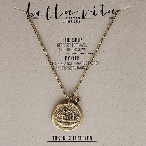 Courage In Your Journey Ship Necklace