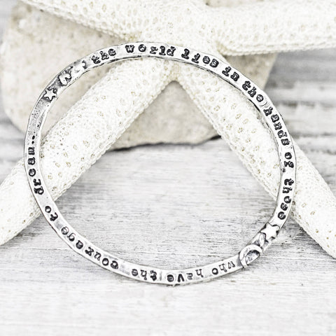 Courage To Dream Bangle Bracelet View 2