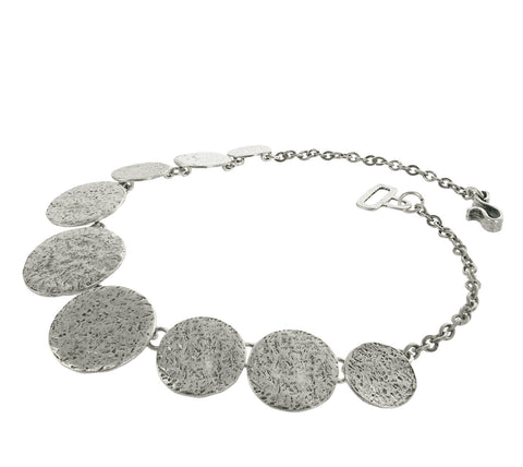 Cyclope Zen Textured Disc Necklace Side View