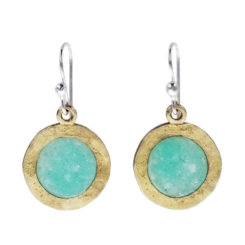 David Urso Blue Moon Bronze Earrings