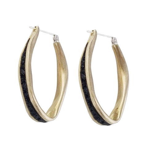 David Urso Bronze Oval Hoop Earrings