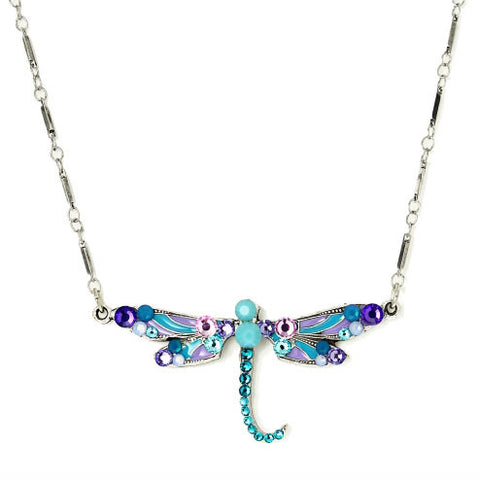 Swarovski Crystals Flying Dragonfly Necklace