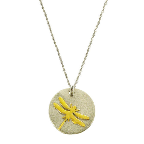 Live Your Dreams Dragonfly Necklace