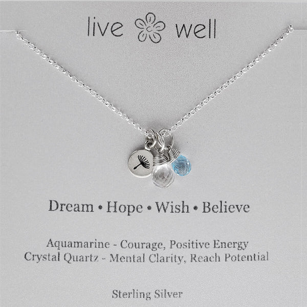 Dream, Hope, Wish, Believe Necklace