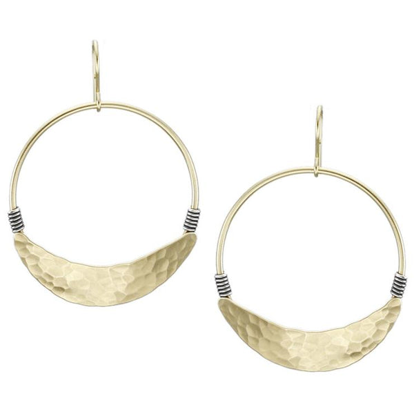 Marjorie Baer Textured Gold Silver Wrap Hoop Earrings